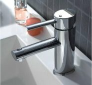 Faucet by MegaLuxe Bathroom Household Basin Faucet, Hot and Cold Water Tap Non-Toxic Safe Sanitary Ware with Hose Wash Your face and Hands Basin Mixer Tap  (Lux-F103)