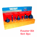 TC ROUTER BIT SET 8PC. 3454 TC3454 (HW001)