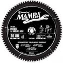 Amana Tools Mamba Blade, 10″x 80TPI, Circular Saw Blade, Carbide Tipped, Thin Kerf Mitre and Radial Arm. For Faster and Cleaner cuts, 5/8 Bore – MA10806