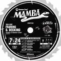 Mamba Blade Amana Tool Framing/Decking 7-1/4-Inch Diameter, 24-Teeth, 5/8-Inch Bore Carbide Tipped Saw Blade with Diamond Knockout (MD7240)
