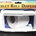 Bath To The Basics Economical Plastic Finish Toilet Tissue Holder, Design Plastic Wall Mount Toilet Paper Holder, Dispenser for Master, Guest, Kid's Bathroom, White  – CH81732