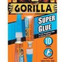 Gorilla Super Glue 3g Tube – 2 Pack, Instant Repairs On Smaller Indoor Projects. Ideal For Wood, Metal, Stone, Ceramic, Glass, Plastic, PVC Sheet, Brick, Concrete, Foam And More – 7800109