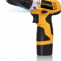 Worksite Cordless Drill & Screwdriver 12V DC Li-ion, 3/8inch (10mm), Max Torque, Optimized Shape Design for easy Control, Effective cooling Design for Longer Workloads, Simplified Design, easy to change Accessories, 2 Speed Function, Easy to change battery, High Speed, Large torque, easy for drilling on Woods, Metal, use as a Screwdriver 16+1,Reversible CD306-12L