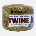 HomeStyle Essentials Jute Twine 560 Feet Natural Jute Twine Best Arts Crafts Gift Twine Christmas Twine Durable Packing String for Gardening Applications Ideal for Farmers, Kids at School, Teachers, Parents for Household and Commercial use (1pc) (CH81802)