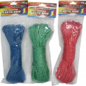 Bath to the Basics All Purpose Polypropylene 75 Foot Rope in Various Multicolor Plastic 3/16inchesX75feet(5millimetresX23meters) Rope for Sports & Outdoors, Hiking, Camping, Heavy Duty General Purpose Utility Cord, Ideal Clothesline, Anchoring Tents, Awing, CH81113