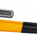 Worksite Pipe Wrench, Dipped Handle, Heavy Duty, Jaw Material made of Drop-forged & high quality carbon steel. Accurately machined jaws and adjustment nut. For Tightening, Removing, Repairing and installing Pipes, Plumbing Fixtures. Designed for ease of use WT1161