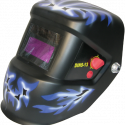 Worksite Welding Mask Solar Power Auto, Full range UV/IR protection, with lithium battery for backup. Power Turns on and off automatically, Adjustable ratcheting headband XGYA01