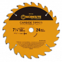 Worksite Circular Saw Blade TCT Carbide Tipped 71/4 inch(185mm)40 Teeth 5/8 Inch Arbor. Cutting Wood, Laminate, Veneered Plywood & Hardwoods for Contractors and DIY. XSB714