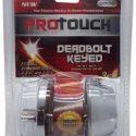 ProTouch Deadbolt Single Cylinder Lock Set, 3 Keys, Interior & Exterior Heavy Duty Commercial,For Bedroom,Bathroom,Doors In Silver Finish CH82194-12