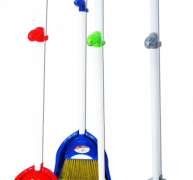 CLEANHOUSE Long Handle Dust Pan With Broom -CH26681
