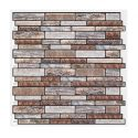 Morcart-3D Mosaic Self Adhesive Tile Wall Sticker Backsplash DIY For Bathrooms, Kitchens, Oil-Proof, Waterproof- 12 inches X 12 inches -MT1085