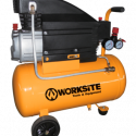 Worksite 25litre Air Compressor, Portable and Powerful 2HP Motor for Use with Air Tools, Pneumatic Tools, Painting Applications, Pumping Of Air And Many More , Ideal For Garages, Graphic Shops, Worksites, Construction And Many More- ACP128-25-110v